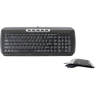 Saitek Ultra Slim Compact Tastatur Schwarz Deutsch USB