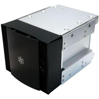 """Silverstone 4in3 4x 3,5"""" silber Festplattenkäfig für 5,25"""" (SST-CFP51S)"""