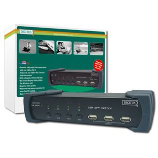 Digitus DC-12201-1 4-fach Desktop KVM-Switch