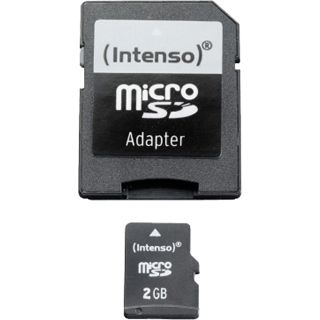 2 GB Intenso Standard microSD Class 4 Retail inkl. Adapter