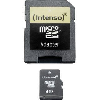 4 GB Intenso Standard microSDHC Class 4 Retail inkl. Adapter