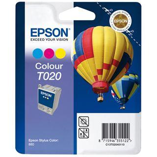 Epson Tinte C13T020401 cyan/magenta/gelb