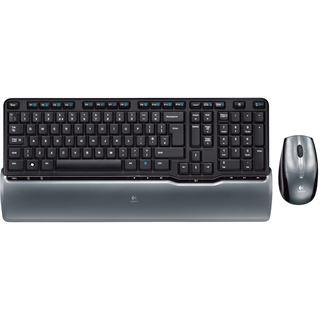 Logitech Cordless Desktop S 520 Tastatur+Maus Schwarz/Grau Deutsch USB