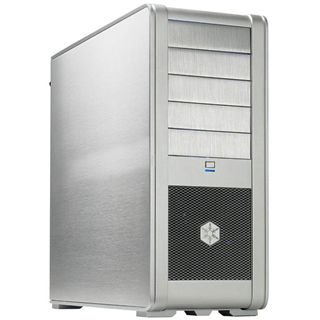Silverstone Fortress FT01 Midi Tower ohne Netzteil silber