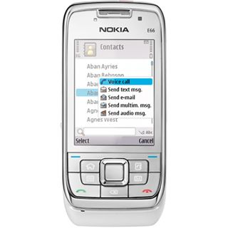 Nokia E66 white steel 3 Mon. Navi