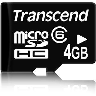 4 GB Transcend Standard microSDHC Class 6 Retail
