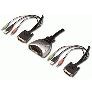 Digitus USB Switch für DVI 2 Ports 1 User