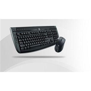 Logitech Cordless Desktop 2800 Pro Tastatur+Maus Schwarz Deutsch USB BULK OEM