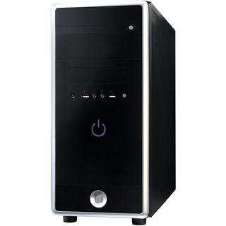 Ultron UG30-2 Midi Tower 400 Watt schwarz/silber