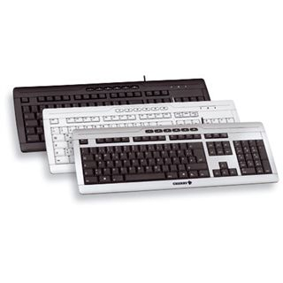 CHERRY STREAM XT Corded Keyboard PS/2 & USB Englisch schwarz