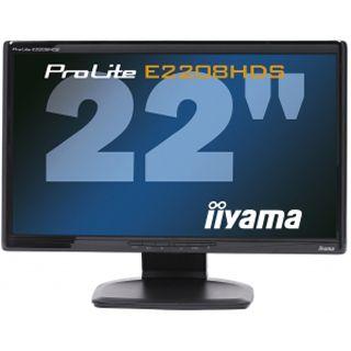 "22"" (55,88cm) Iiyama ProLite E2208HDS-2 Schwarz 1920x1080 DVID/VGA/Audio"