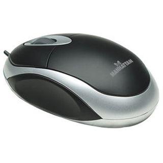 Manhattan MH1 Optische Maus Schwarz/Silber USB