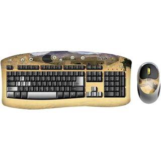 Delux Desktop Combo 911 Designer Tastatur+Maus Deutsch PS2