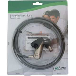 InLine Vielseitiges Sicherheitsschloss, , mit Schlüssel, 6mm x 2,6m
