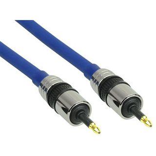 (€2,84*/1m) 7.00m InLine Audio/Video Anschlusskabel Premium-Line Cinch Stecker auf Cinch Stecker Blau vergoldet