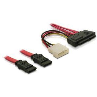 0.50m Delock SAS Adapterkabel 2xSATA Stecker auf SFF-8482 Stecker +