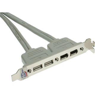 InLine Slotblech, , USB 2.0