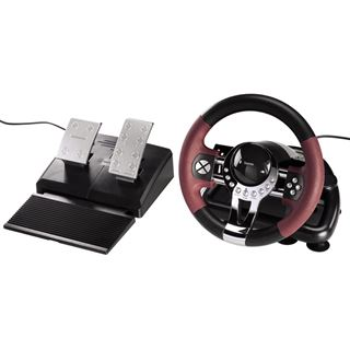 Hama Racing Wheel Thunder V5 USB schwarz/rot PC / PS3