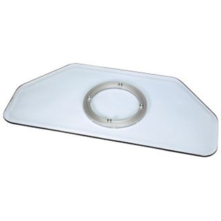 Hama LCD-/Plasma-TV-Drehteller, Glas, Klar 60,0 cm x 40,0 cm x 3,0 cm