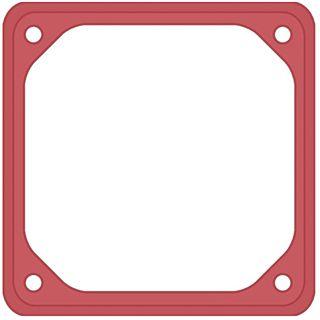 42 Degrees Lüfterrahmen Rubber Frame 1x Rot 80mm