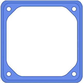 42 Degrees Lüfterrahmen Rubber Frame 1x Blau 80mm