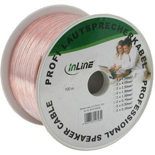 (€0,28*/1m) 25.00m InLine Audio Lautsprecherkabel 2x 0.75qmm Kupfer