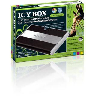 "2.5"" (6,35cm) Icy Box 224StU-B SATA USB 2.0 Schwarz/Silber"