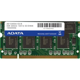1GB ADATA Value DDR-400 SO-DIMM CL3 Single