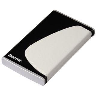 """2,5""""(6,35cm) Hama Festplattengehäuse Schwarz/Weiss SATA -> USB Schwarz/Weiß"""