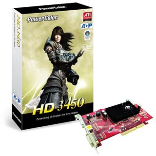 512MB PowerColor Radeon HD3450 GDDR2 AGP