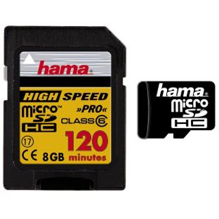 8 GB Hama Standard Mobile microSDHC Class 6 Retail inkl. Adapter