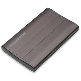 "2,5"" (6,35cm) MANHATTAN Enclosure 709057 SATA -> USB Schwarz"