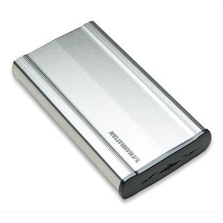 "3.5""(8,89cm) Manhattan External Enclosure Alu SATA USB 2.0 Silber"