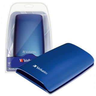 "320GB Verbatim Portable Hard Drive blau 2,5"" (6,35 cm) USB 2.0"
