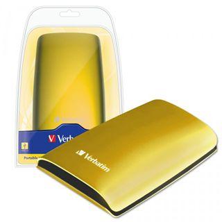 """500GB Verbatim Portable Colour Edition 47640 2.5"""" (6.4cm) USB 2.0 gelb"""