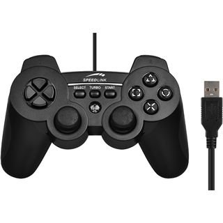 Speedlink SL-4442-SBK Strike3 Gamepad PS3/PC schwarz