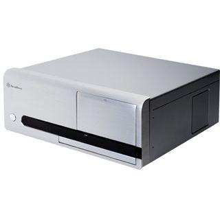 Silverstone La Scala LC20M Desktop ohne Netzteil silber