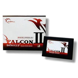 """64GB G.Skill Falcon II 2.5"""" (6.4cm) SATA 3Gb/s MLC asynchron"""