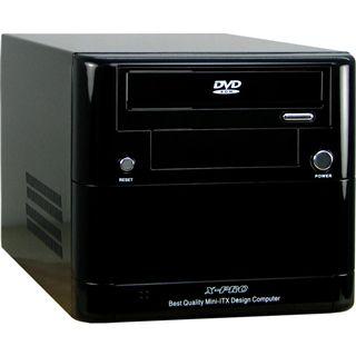 Inter-Tech ITX-901 ITX Tower 300 Watt Klavierlack schwarz