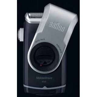 Braun Batterie-Rasierer Pocket M-90 schwarz-silber