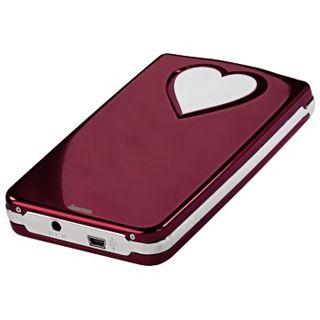 """2.5""""(6,35cm) Hama SATA Festplattengehäuse Red-Heart für HDD"""
