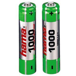 Hama Akkus AAA / Micro Nickel-Metall-Hydrid 1000 mAh 2er Pack