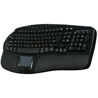 Perixx Periboard 712 Touchpad Wireless Tastatur Schwarz Deutsch USB
