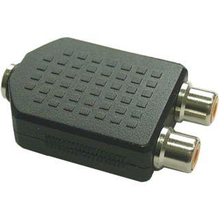 InLine Audio Adapter 3.5mm Klinke Buchse Mono auf 2xCinch Buchse