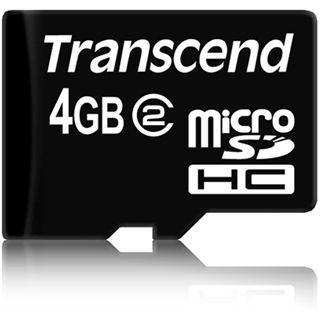 4 GB Transcend Standard microSDHC Class 2 Retail