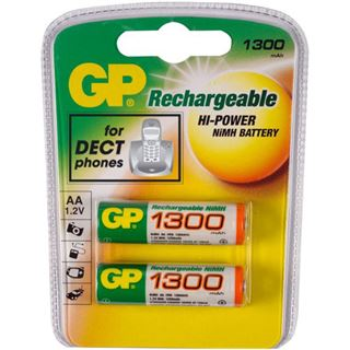 GP Batteries Akkus AA / Mignon Nickel-Metall-Hydrid 1300 mAh 2er Pack