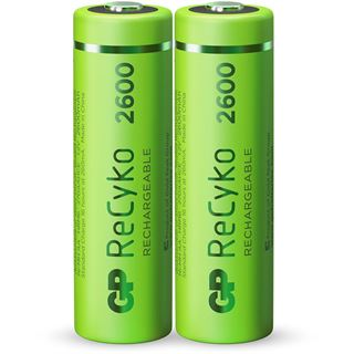 GP Batteries Akkus AA / Mignon Nickel-Metall-Hydrid 2700 mAh 2er Pack