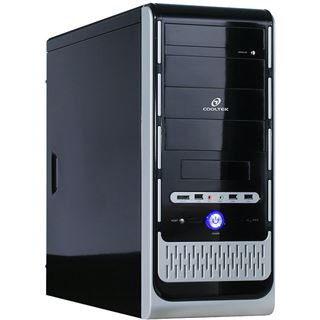 ATX Cooltek K-Series K2 Super Silent Midi Tower o.NT Schwarz