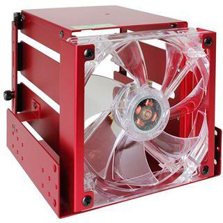 "Lian Li roter Festplattenkäfig für 3x 3.5"" Festplatten (EX-33R2)"
