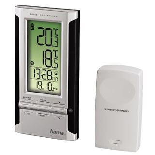 Hama Elektronische Wetterstation EWS-180, Schwarz/Silber